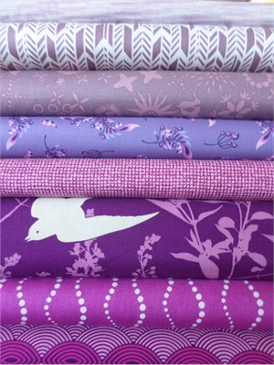 Fabricworm Custom Bundle, Inspired by Pantone's Color of the Year: Orchid in FAT QUARTERS 8 Total