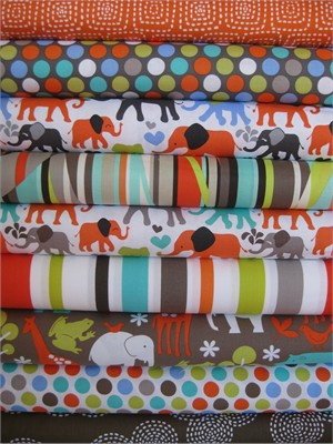 Fabricworm Custom Bundle, Parade Day in FAT QUARTERS, 9 Total