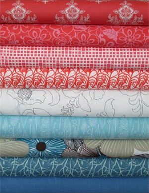 Fabricworm Custom Bundle, Paradiso in FAT QUARTERS 9 Total (PRE-CUT)