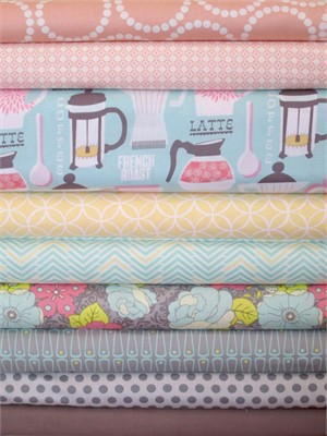 Fabricworm Custom Bundle, Pastel Kitchen in FAT QUARTERS 9 Total