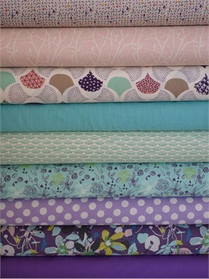 Fabricworm Custom Bundle, Pastel Paradise in FAT QUARTERS 9 Total