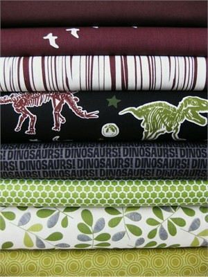 Fabricworm Custom Bundle, Prehistoric Age in FAT QUARTERS, 8 Total (Pre-cut)