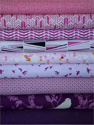 Fabricworm Custom Bundle, Purple Haze in FAT QUARTERS 9 Total