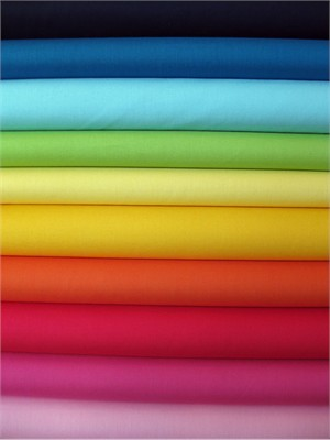 Fabricworm Custom Bundle, Pure Organic Solid Sampler Bright in FAT QUARTERS, 10 Total