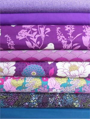 Fabricworm Custom Bundle, Purple Rain 8 Total