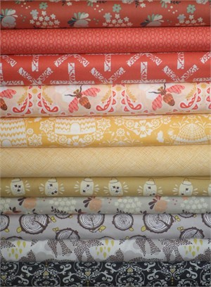 Fabricworm Custom Bundle, Queen Bee in FAT QUARTERS 11 Total (PRE-CUT)