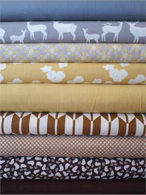 Fabricworm Custom Bundle, Quiet Meadow in FAT QUARTERS 9 Total (PRE-CUT)