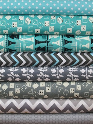 Fabricworm Custom Bundle, Roll the Dice in FAT QUARTERS 8 Total