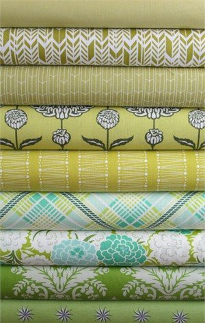 Fabricworm Custom Bundle, Sage Advice in FAT QUARTERS 9 Total