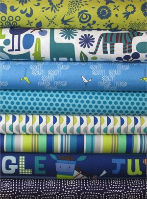 Fabricworm Custom Bundle, Safari Party in FAT QUARTERS 8 Total