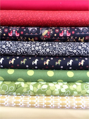 Fabricworm Custom Bundle, Scandi Canter in FAT QUARTERS 9 Total