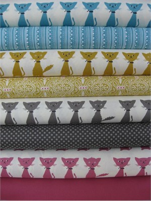 Fabricworm Custom Bundle, Scaredy Cat Sampler in FAT QUARTERS, 8 Total