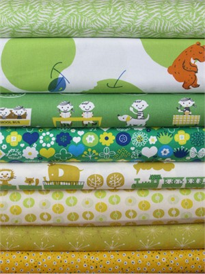 Fabricworm Custom Bundle, School Season in FAT QUARTERS 6 Total