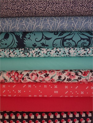 Fabricworm Custom Bundle, Sky Fall in FAT QUARTERS 9 Total
