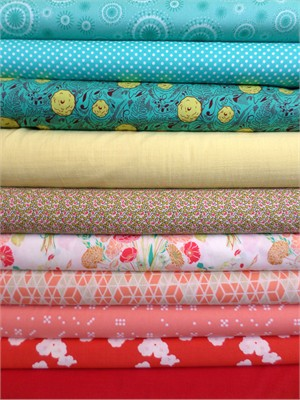 Fabricworm Custom Bundle, Spring Fling in FAT QUARTERS 10 Total (Pre-cut)