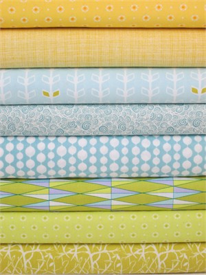 Fabricworm Custom Bundle, Spring Showers in FAT QUARTERS 8 Total