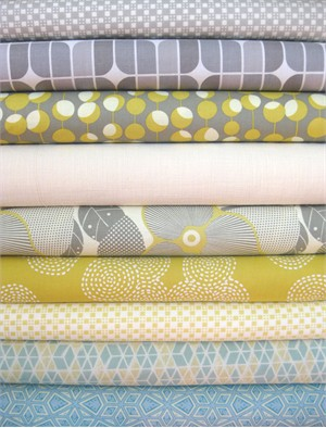 Fabricworm Custom Bundle, Steel Away in FAT QUARTERS 9 Total