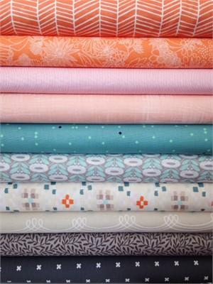 Fabricworm Custom Bundle, Summer Breeze in FAT QUARTERS 8 Total