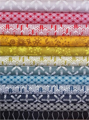 Fabricworm Custom Bundle, Sun Print Sampler, Spectrum in FAT QUARTERS 12 Total