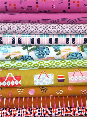 Fabricworm Custom Bundle, Sunday Picnic in FAT QUARTERS 8 Total (PRE-CUT)