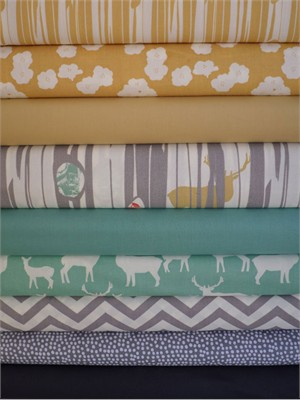 Fabricworm Custom Bundle, Sunny Woods in FAT QUARTERS 9 Total