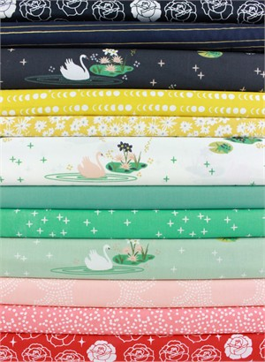 Fabricworm Custom Bundle, Swan Days in FAT QUARTERS 11 Total (PRECUT)
