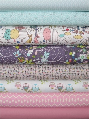 Fabricworm Custom Bundle, Sweet Simplicity in FAT QUARTERS 8 Total (PRE-CUT)