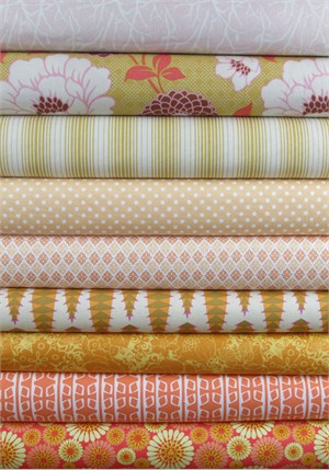 Fabricworm Custom Bundle, Tangerine Dream in FAT QUARTERS 9 Total