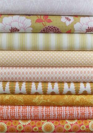 Fabricworm Custom Bundle, Tangerine Dream in FAT QUARTERS 9 Total (PRE-CUT)