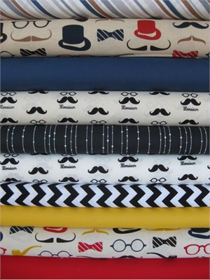 Fabricworm Custom Bundle, Tailor Made in FAT QUARTERS, 8 Total