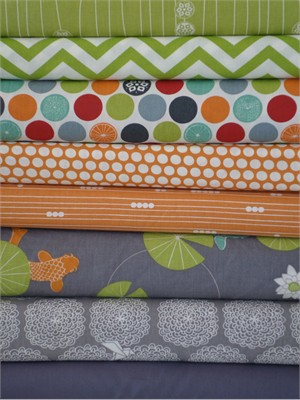 Fabricworm Custom Bundle, Tea Garden in FAT QUARTERS 8 Total
