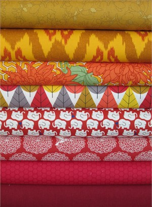 Fabricworm Custom Bundle, Thai Curry Palace in FAT QUARTERS 8 Total