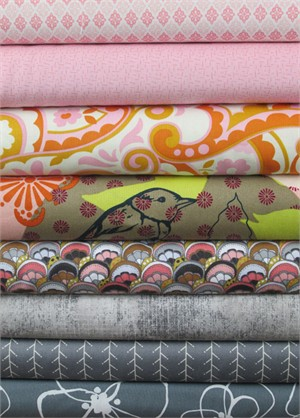Fabricworm Custom Bundle, Think Pink in FAT QUARTERS 8 Total
