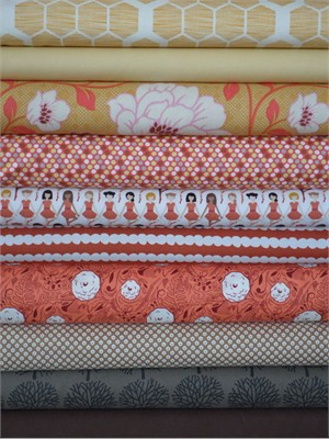 Fabricworm Custom Bundle, Tiny Dancer in FAT QUARTERS 10 Total