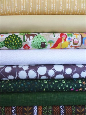 Fabricworm Custom Bundle, To Grandmother's House, in Fat Quarters, 8 Total
