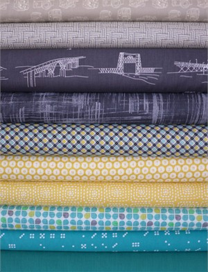 Fabricworm Custom Bundle, Tour of the Bay in FAT QUARTERS 9 Total