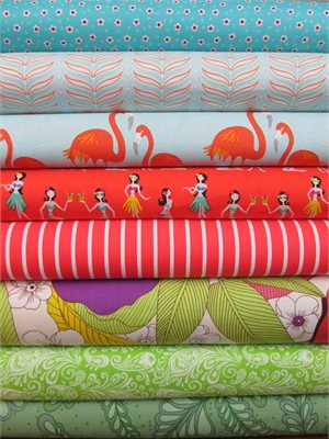 Fabricworm Custom Bundle, Tropical Breeze in FAT QUARTERS 8 Total