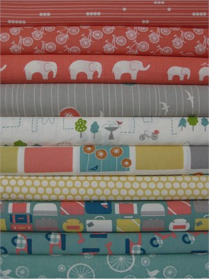 Fabricworm Custom Bundle, Travelin' in FAT QUARTERS, 10 Total