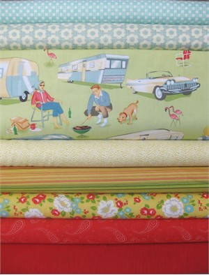 Fabricworm Custom Bundle, Travelin' Thru, in Fat Quarters, 8 Total