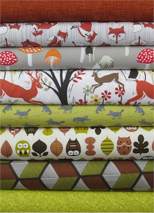 Fabricworm Custom Bundle, Wandering Woods in FAT QUARTERS 8 Total