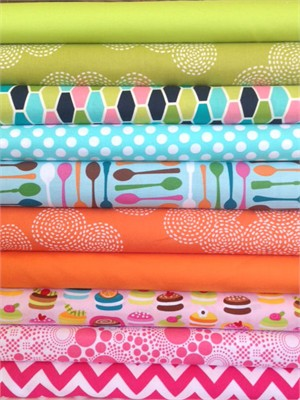 Fabricworm Custom Bundle, Whatcha Bakin'? in FAT QUARTERS 10 Total