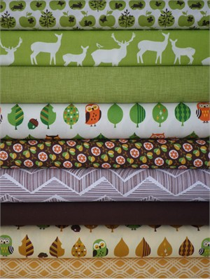 Fabricworm Custom Bundle, Who's in the Forrest in FAT QUARTERS 9 Total