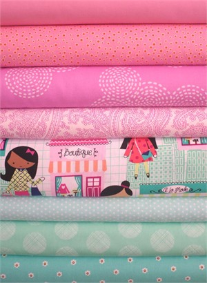 Fabricworm Custom Bundle, Window Shopping in FAT QUARTERS 8 Total