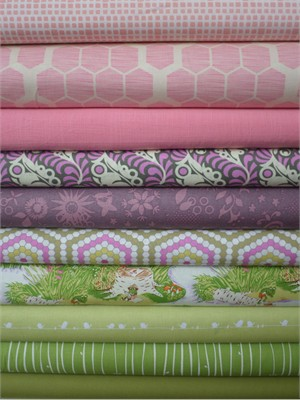 Fabricworm Custom Bundle, A World of My Own in FAT QUARTERS 10 Total