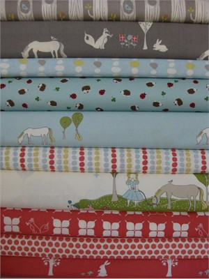 Fabricworm Custom Bundle, Woodland Pasture in FAT QUARTERS, 10 Total