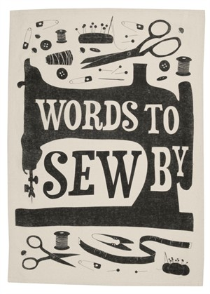 Fabricworm Gift, Sew Happy, Words To Sew By Tea Towel