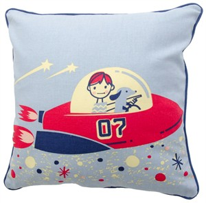 Fabricworm Gift, Space Capade Boy's Cushion