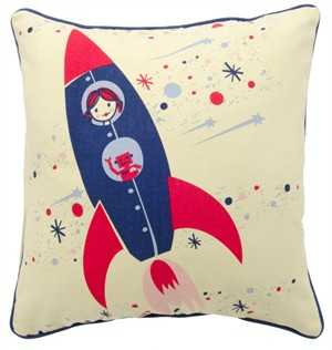 Fabricworm Gift, Space Capade Girl's Cushion