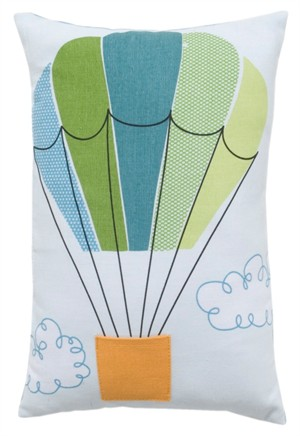 Fabricworm Gift, TallyHo Hot Air Balloon Cushion