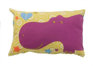 Fabricworm Gift, Zazza Hippo Cushion